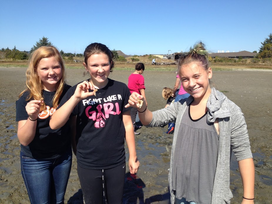 GEMS campers collect data on the mud flats