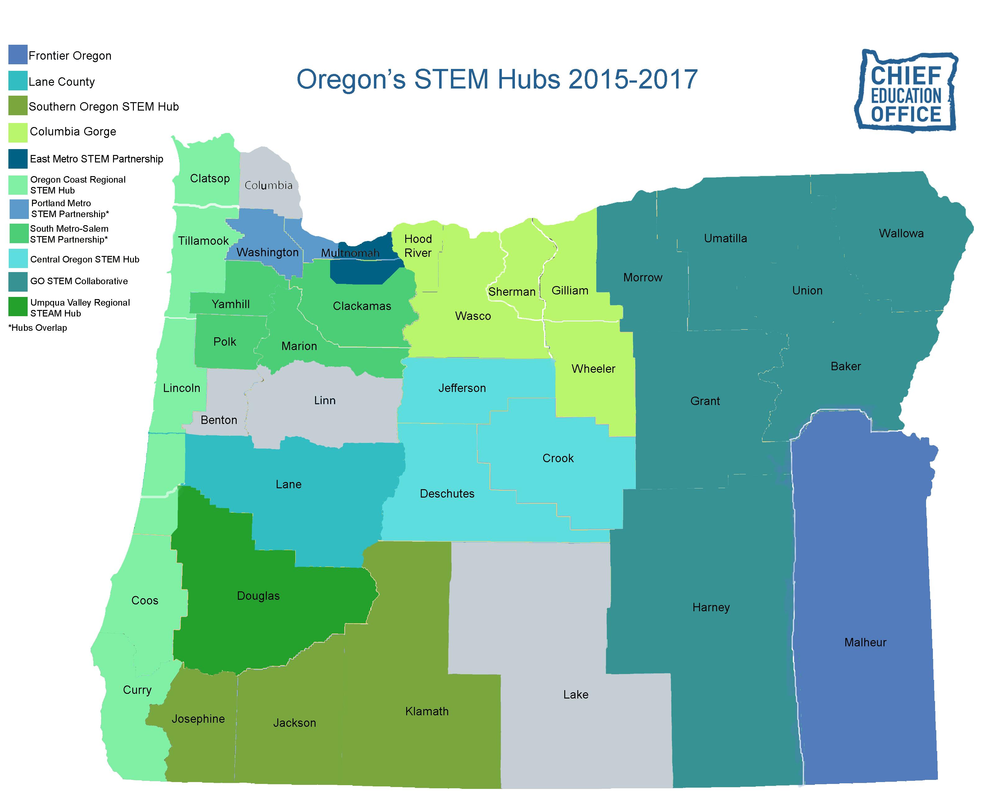 More STEM Hubs in Oregon Oregon