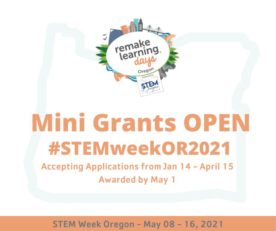 STEM Week Oregon 2021 mini grant