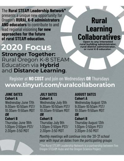 Rural Learning Collaborative flyer