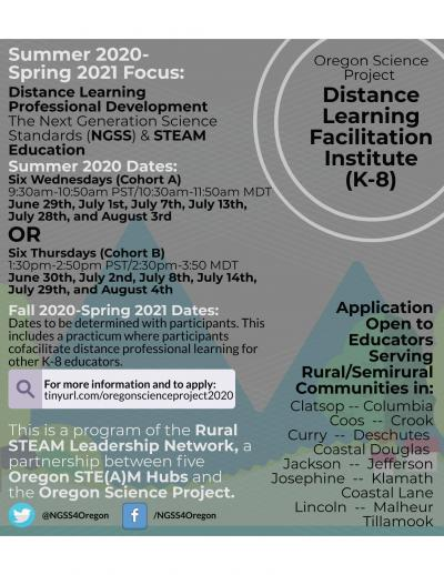 Distance Learning Facilitator flyer
